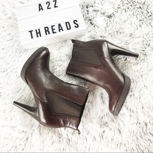 Banana Republic Brown Leather Heeled Ankle Boots
